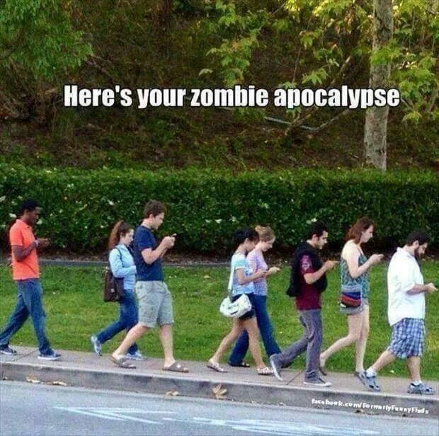 smartphone, smombies, zombies