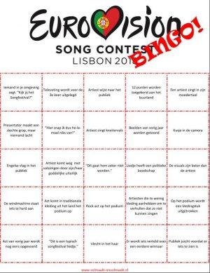 Beroemd Eurovisie Songfestival Bingo 2018! | Volmaakt Onvolmaakt &LH61