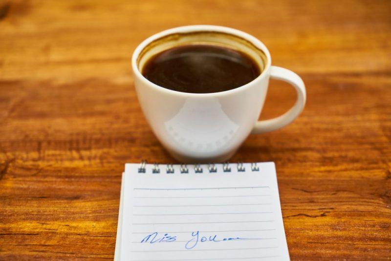 koffie, missen, miss you