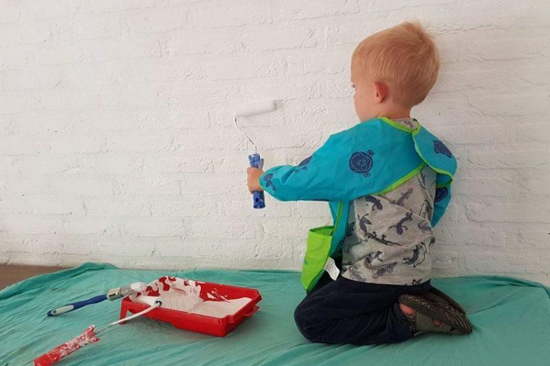 verven, schilderen, muur schilderen, peuter