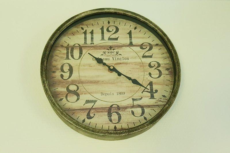 klok, houten klok, uurwerk