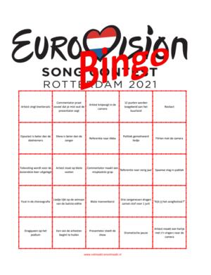eurovision bingo 2021